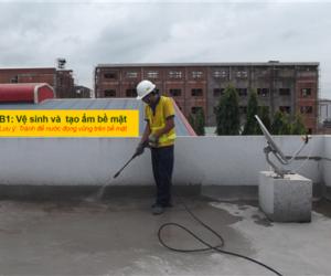 4 bước thi công chống thấm sân thượng