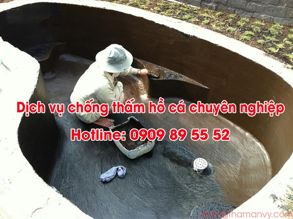 dịch vụ chống thấm hồ cá